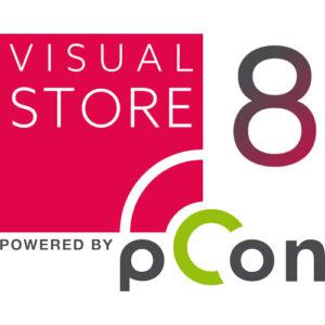 Logo von visual-STORE mit der Kennzeichnung das es sich um die Version acht handelt